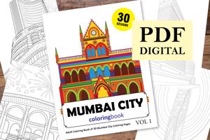 Mumbai Coloring Book for Adults