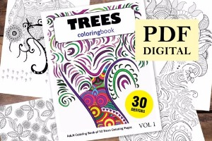 Trees Coloring Book for Adults