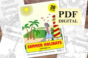 Summer Holidays Coloring Book for Adults
