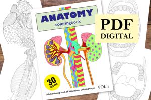 Anatomy Coloring Book for Adults