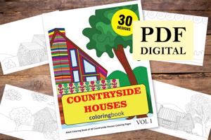 Countryside Houses Coloring Book for Adults