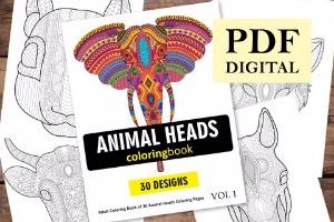 Animal Heads Coloring Book for Adults