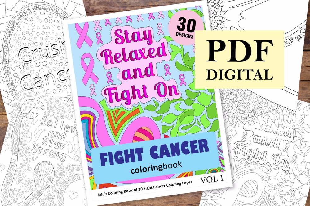 Fight Cancer Coloring Book for Adults