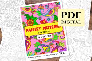 Paisley Patterns Coloring Book for Adults