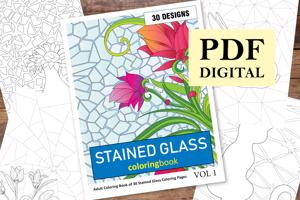 Stained Glass Coloring Book for Adults