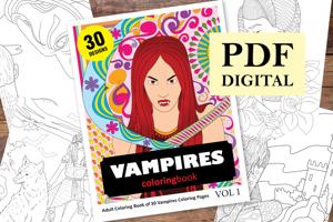 Vampires Coloring Book for Adults