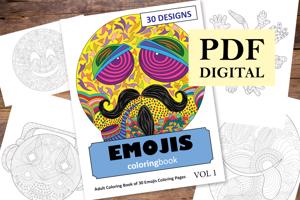 Emojis Coloring Book for Adults
