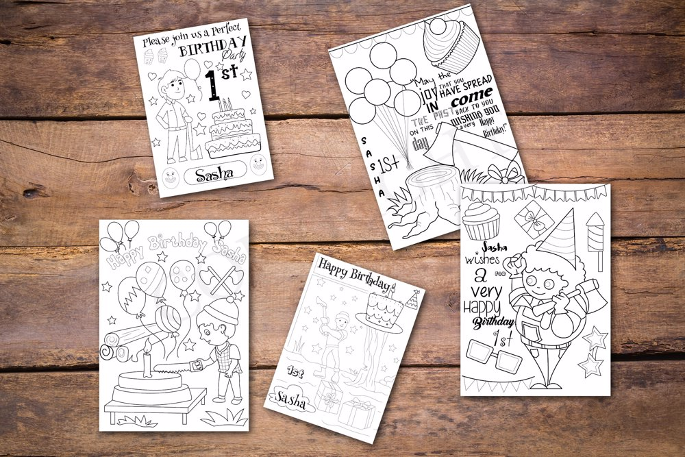 Lumberjack Theme Personalized Birthday Coloring Book - Coloring Books For  Adults