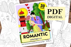 Romantic Coloring Book for Adults