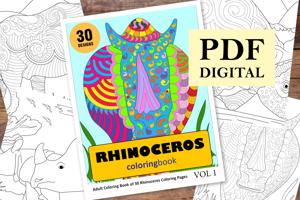 Rhinoceros Coloring Book for Adults