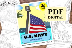 US Navy Coloring Book for Adults
