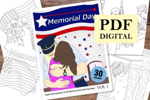 Memorial Day Coloring Book for Adults