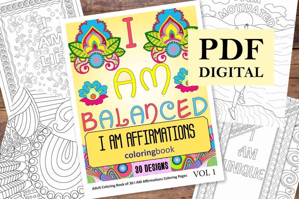 I AM Affirmations Coloring Book for Adults