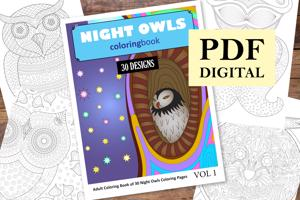 Night Owls Coloring Book for Adults
