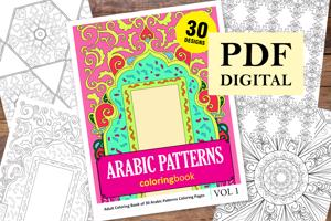 Arabic Patterns Coloring Book for Adults