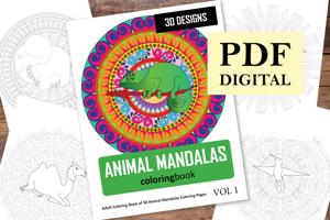 Animal Mandalas Coloring Book for Adults