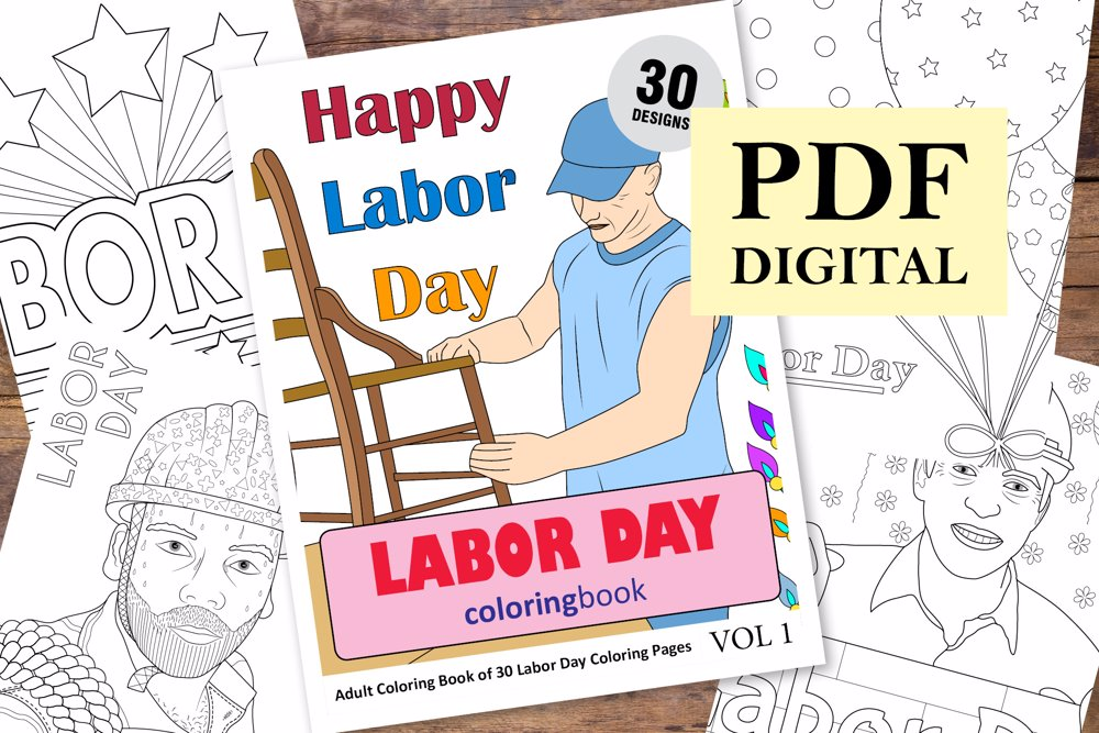 Labor Day Coloring Book for Adults