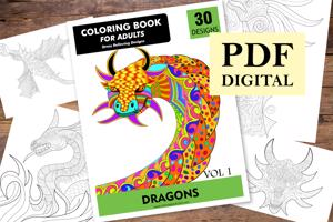 Dragons Coloring Book for Adults
