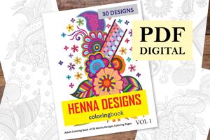 Henna Designs Coloring Book for Adults