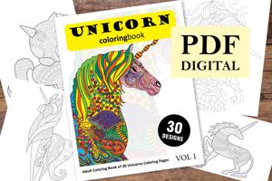 Unicorns Coloring Book for Adults