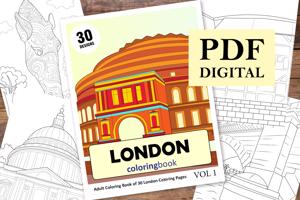 London Coloring Book for Adults