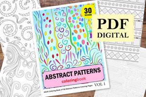 Abstract Patterns Coloring Book for Adults