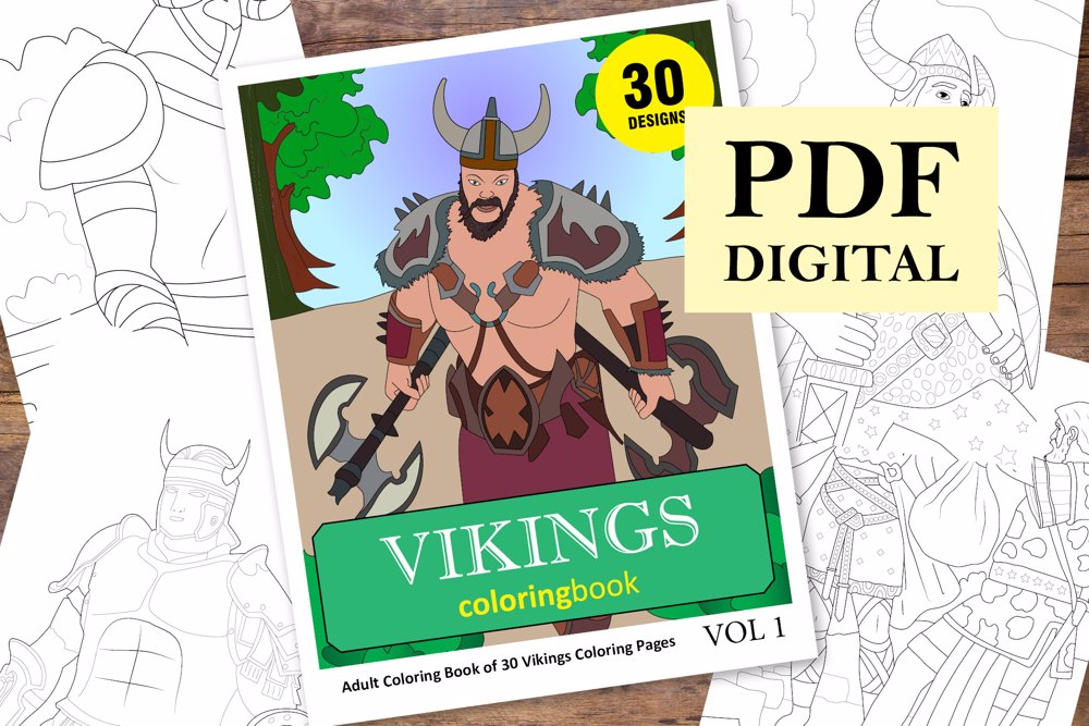 Vikings Coloring Book for Adults