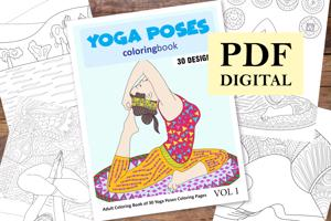 Yoga Poses Coloring Book for Adults