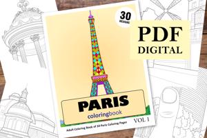 Paris Coloring Book for Adults