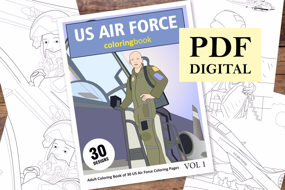 US Air Force Coloring Book for Adults
