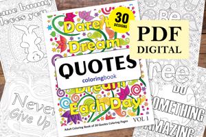Quotes Coloring Book for Adults