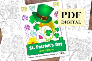 St Patrick's Day Coloring Book for Adults