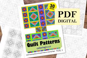Quilt Patterns Coloring Book for Adults