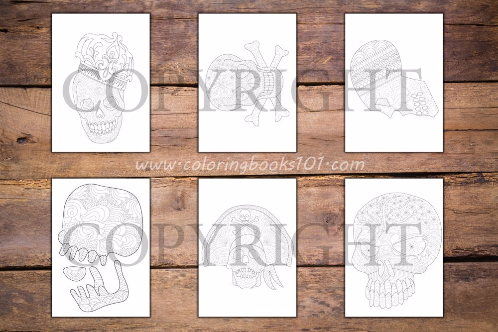 Skulls Coloring Book for Adults