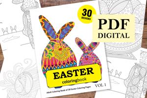 Easter Coloring Book for Adults