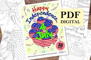 Independence Day Coloring Book for Adults