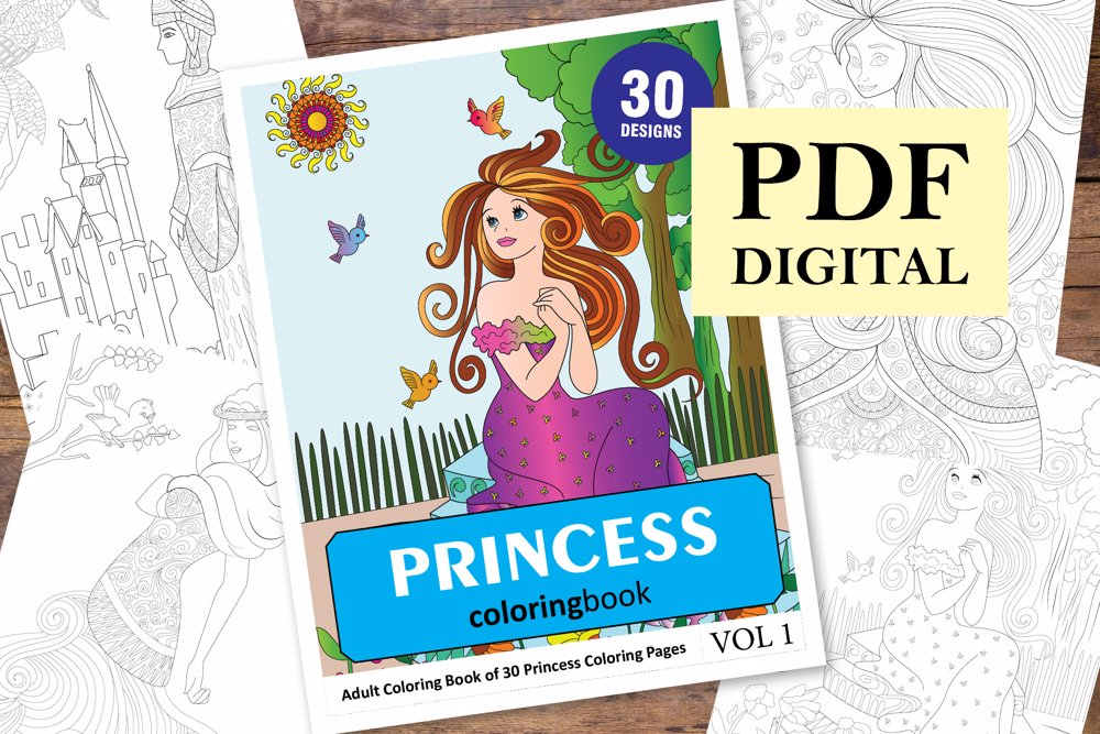 Princess Coloring Book for Adults