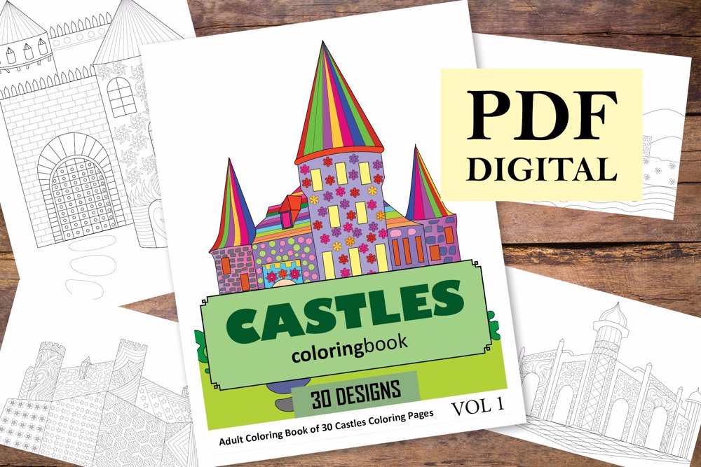 Castles Coloring Book for Adults