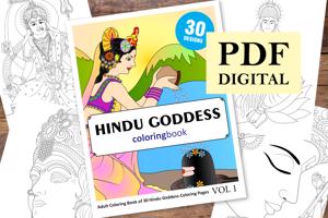 Hindu Goddess Coloring Book for Adults