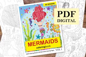 Mermaids Coloring Book for Adults