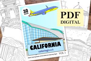 California Coloring Book for Adults