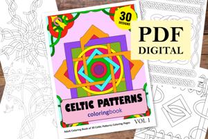 Celtic Patterns Coloring Book for Adults