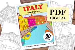 Italy Coloring Book for Adults