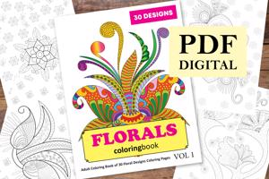 Florals Coloring Book for Adults