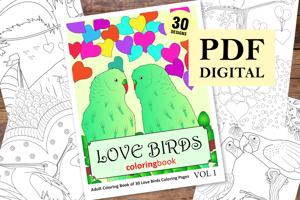 Love Birds Coloring Book for Adults