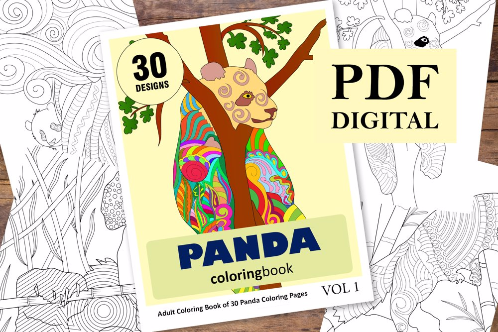 Panda Coloring Book for Adults