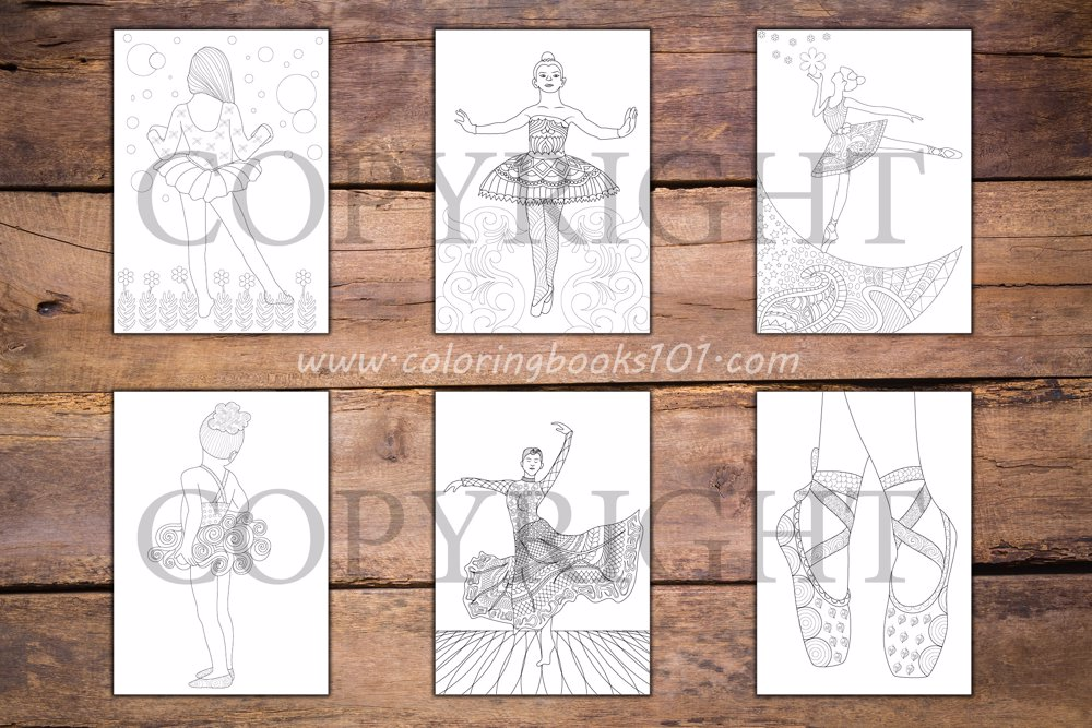 Ballerina Coloring Book for Adults