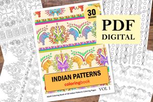 Indian Patterns Coloring Book for Adults